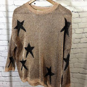 Sm Shimmery Mauve Star Sweater
